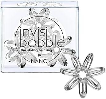 invisibobble Nano Crystal Clear per stuk verpakt 1 x 3 stuks