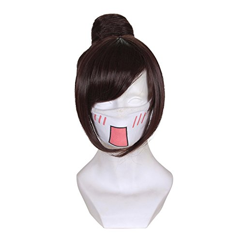 Price comparison product image Cfalaicos Red Brown Cosplay Wig with Free Wig Cap