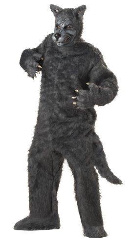 Men'S Big Bad Wolf Holiday Party Costume (Grey;One Size) (Standard)