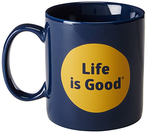 life-is-good-jakes-dot-mug-darkest-blue-one-size