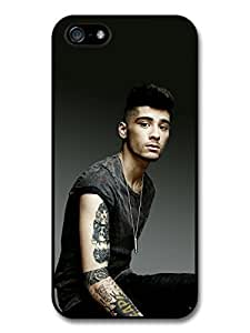 Zayn Malik Black T-Shirt 1D One Direction case for iPhone 5 5S A1391