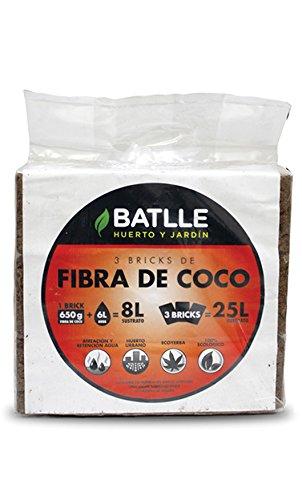 Sustratos Ecológicos - Brick de Fibra de coco 650g - Batlle