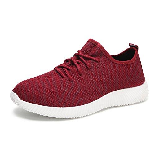 Hawkwell Kvinna Lätt Bekväm Andas Casual Mode Sneaker Röd