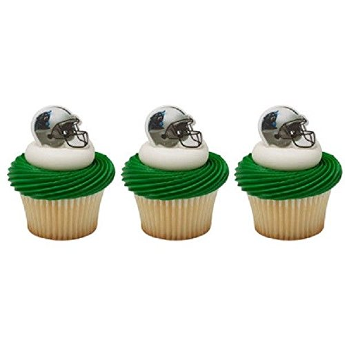- NFL Carolina Panthers Football Cupcake Rings 24 Pack Cake Topper