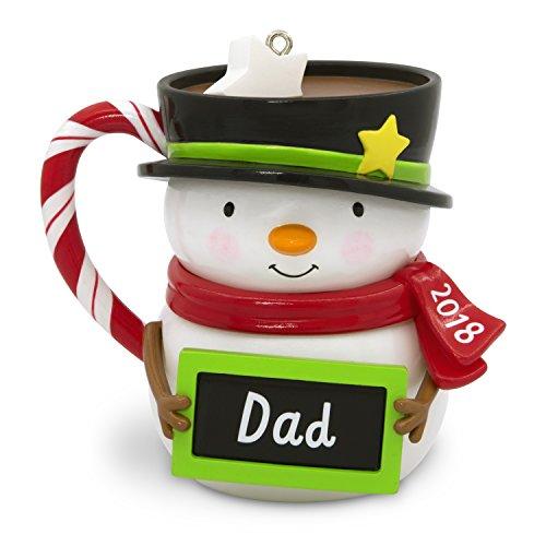 Dad Christmas Ornament - Hallmark Keepsake Christmas Ornament 2018 Year Dated, Dad Snowman Mug