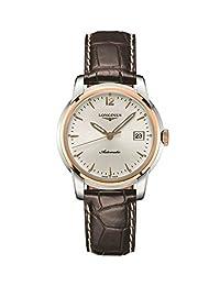 Longines Saint-Imier Automatic Steel & 18k Gold Plated Mens Strap Watch Calendar L2.763.5.72.0