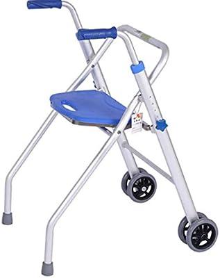 Amazon.com: ZXXX Portable Medical Folding Walker with Wheels ...