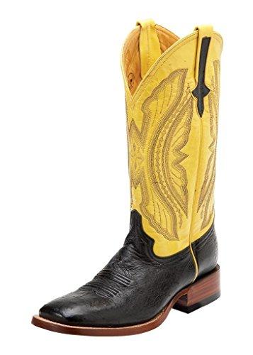 Ferrini Men's Smooth Quill Ostrich Exotic Boot Square Toe...