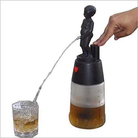 Bonny Boy redondo negro con blanco Jar licor dispensador de 500 ml de capacidad: Amazon.es: Hogar