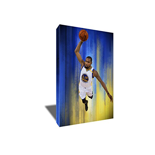 (KEVIN DURANT Dunk Canvas Painting Poster Artwork on CANVAS ART print (24x36 inches))