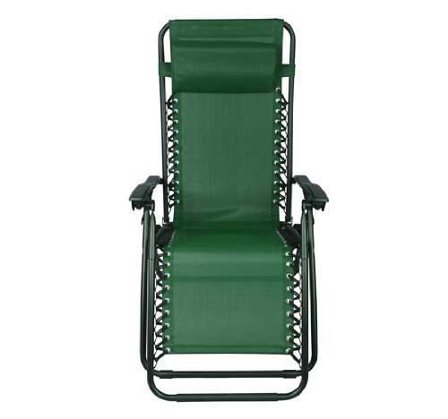 Outsunny Zero Gravity Recliner Lounge Patio Pool Chair, Green