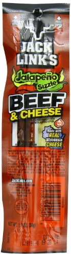 Jack Link's Combo Pack Jalapeno Sizzle Beef and Cheese Sticks Combo Pack, 1.2-Ounce (Pack of 16) - Jalapeno Beef