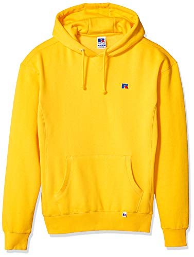 (Russell Athletic Heritage Men's Fleece Hoodie, Gold Fusion, X-Large)