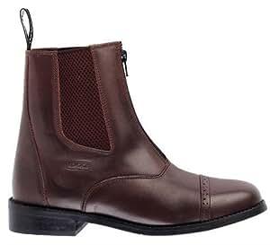 Augusta Toggi con cremallera cuero Jodhpur bota en marrón, tamaño: 11