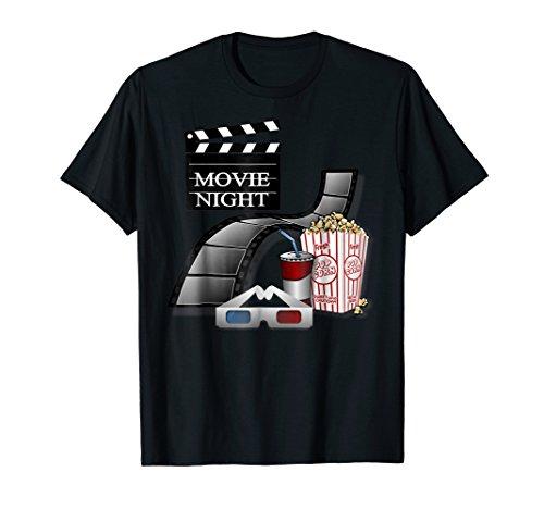 Movie Night Funny T-shirt Soda Pop Corn Film Movies Gift Tee