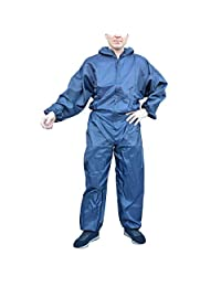 All Purpose Protective Hooded 100% Polyester Men Coverall