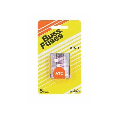 Bussman BP/ATC-3 RP 3 Amp Fuses 5 Count