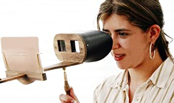 Holmes Stereoscope Viewer KIT for Stereocards (stereoviews) - Leather Hood  - Folding Handle - Made in US