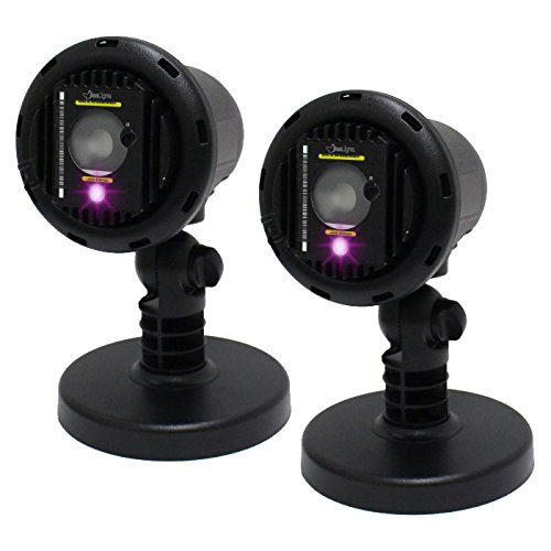 2 Pack BlissLights Colors Outdoor/Indoor Laser Projector LED Show Lawn Garden Light - Purple