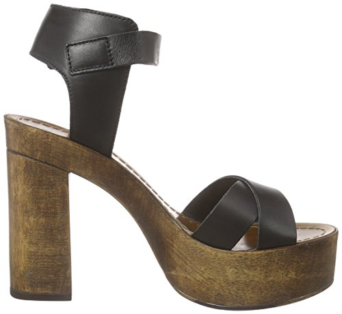 Vero Moda Vmbea Leather Sandal - Sandalias con plataforma Mujer Negro - negro