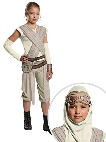 Star Wars Rey Costume Kit Deluxe Kids Large With Eye Mask and Hood