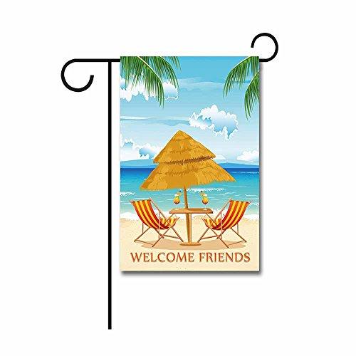 KafePross Chair on Beach with Palm Tree