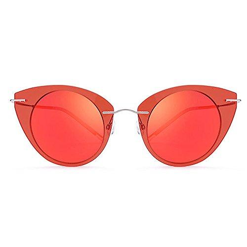 sol Gafas mujer TAC Peggy sol de Marco conducir Protección de gato de Gu Lente de Diseño Playa para UV nylon vacaciones ojos Gafas de sol al Rojo para libre Color Gafas de polarizadas Rojo aire de WPqaP1wY