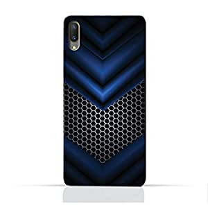 AMC Design Abstract Blue Mesh Pattern Printed Protective Case for Vivo X21 Ud - Multi Color