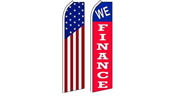Car Auto Dealer Swooper Flutter Feather Flags /& Poles 2 Pack-Best Buys-LOOK