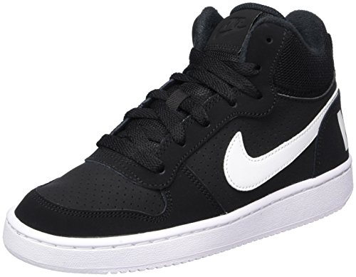 Baskets Baskets Mid white Enfant Court black Hautes Nike Mixte Mixte gs Noir Borough pIU6EnqH