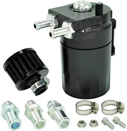 CNC Oil Catch Can Tank Alu m. Filter Öl Auffangbehälter Ölsammler Ölbehälter PCV
