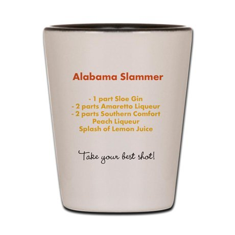 Fire Ball Shot Glass, Recipe Shot Glass, Funny Shot Glasses for Women and Men, Collectible Shot Glass, Alabama Slammer
