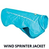 RUFFWEAR - Wind Sprinter Ultralight Wind Resistant Jacket for Dogs, Blue Atoll, Small