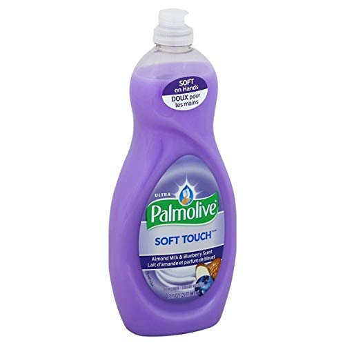Palmolive Ultra Soft Touch Almond Milk & Blueberry, Dish Soap, 591 ml / 20 Fl.Oz - 3 Packs