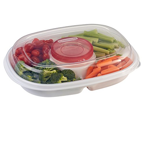 Rubbermaid Party Platter Party Tray, Clear (Fruit Storage Trays)