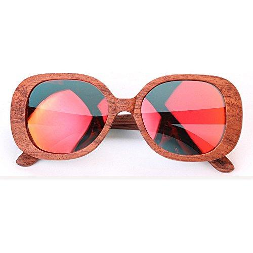 de de planos de Gafas para la de polarizadas la gafas espejados a las que sol sol hechas las gafas ULTRAVIOLETA de de sol de bis de bambú madera de mano sol gafas conducen protección Lentes señora las dtqPq