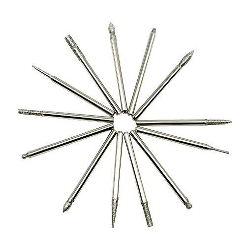 - Shiningeyes 30-Piece Set of Titanium-Coated Diamond Burrs, Grits 120