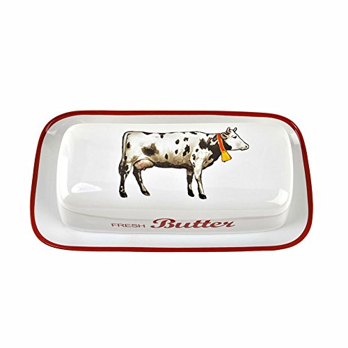 Farmhouse Cow Butter Dish (Butter Dish Cow compare prices)