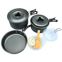 Lysport Outdoor Camping Cookware Aluminum Pan Set for 3 people