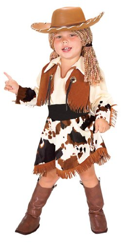 Yarn Cowgirl Toddler Costume , Black / Brown , Toddler