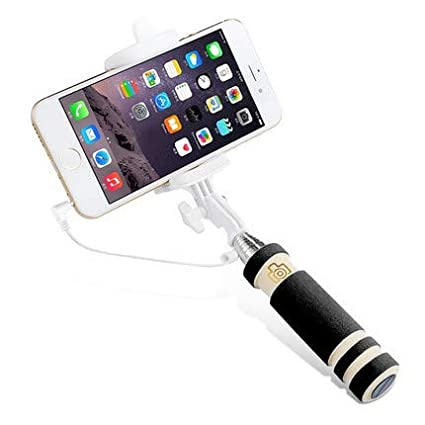 Mini Bastone Selfie Mini Asta selfie Smartphone,Bastone Selfie 2 in 1 Estensibile Asta selfie di piccole dimensioni