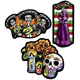 Beistle 3-Pack Day of The Dead Cutouts, 18-Inch