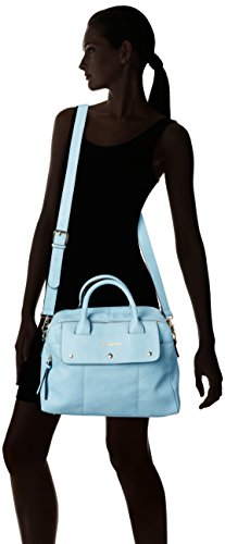 SwankySwansCarla Pu Leather Double Zip Smart - Borsa Tote donna Blu (Sky blue)
