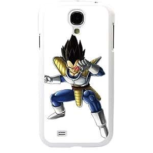 Dragon Ball Manga Comic Slim Vegeta Samsung Galaxy S4 SIV I9500 TPU Soft Black or White case (White)