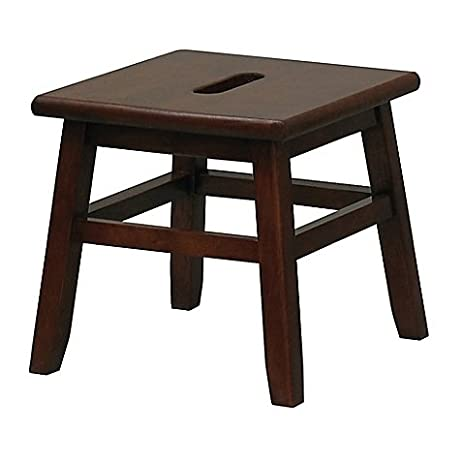 Porter Slotted Top Step Stool in Walnut Measures 12u0026quot; D x 12u0026quot; ...  sc 1 st  Amazon.com & Amazon.com: Porter Slotted Top Step Stool in Walnut Measures 12