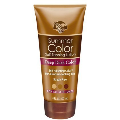 Banana Boat Summer Color Self Tanning Lotion -Deep Dark-6 oz