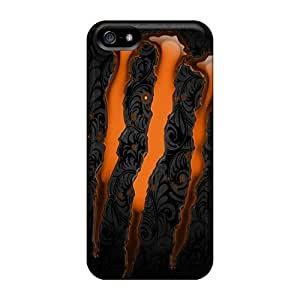Rugged Skin Cases Covers For Iphone 5/5s- Eco-friendly Packaging(monster)