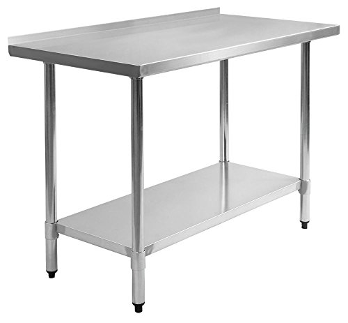 "24"" x 48"" Stainless Steel Work Prep Table with Backsplash Kitchen Restaurant New from Unknown"