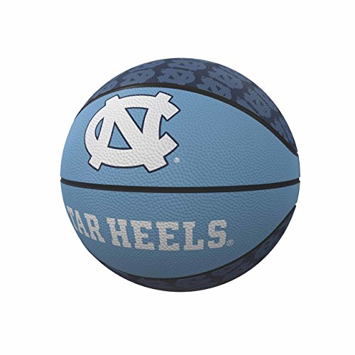 Logo Brands NCAA North Carolina Tar Heels Rubber Basketball, Miniature, Light Blue ()
