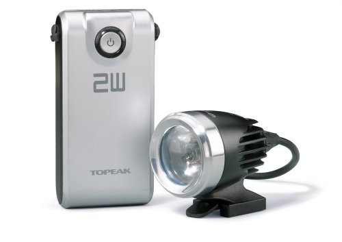 Topeak WhiteLite HP 2W Bicycle Light with Battery Pack by Topeak